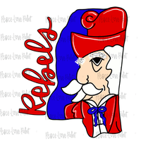 Colonel Reb MS Hand Drawn Sublimation Transfer-Sublimation Transfer-Peace Love Paint Designs
