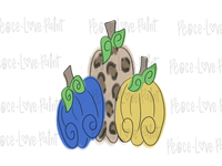Leopard and Solid Pumpkins Hand Drawn Sublimation Transfer-Sublimation Transfer-Peace Love Paint Designs