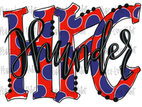 HFC Thunder Hand Drawn Sublimation Design-Digital Download-Peace Love Paint Designs