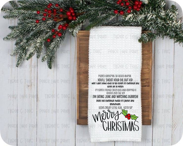 Christmas Quotes Tea Towel