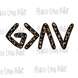 God is Greater than the Highs and Lows Leopard Hand Drawn Sublimation Transfer-Sublimation Transfer-Peace Love Paint Designs