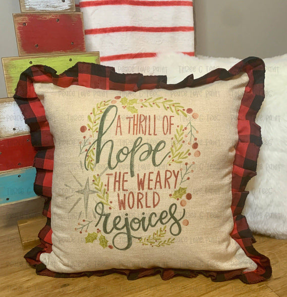 O' Holy Night Ruffle Pillow Cover
