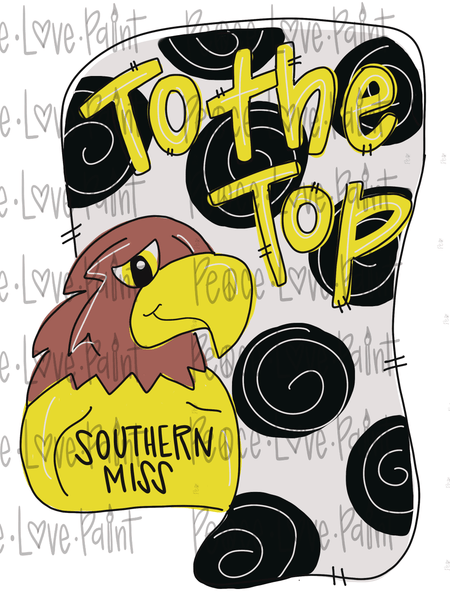 MS USM with Seymour Hand Drawn Sublimation Design-Digital Download-Peace Love Paint Designs