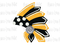 TRIBAL HEADDRESS Hand Drawn Sublimation Design-Digital Download-Peace Love Paint Designs