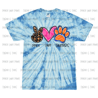Tie Dye Peace Love Cougars