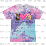 Youth Cotton Candy Peace Love Tee