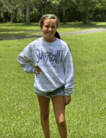 Sumrall Leopard Screen Youth Sweatshirt-Tees-Peace Love Paint Designs