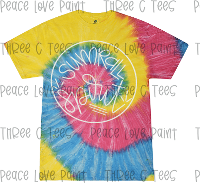 Adult Tie Dye Spirit Tee-Tees-Peace Love Paint Designs