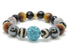 Big Teal Bling - Eclectic Love & Om Charm