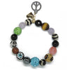 Big Teal Bling - Eclectic Love & GM Peace Sign Charm