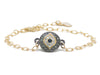 Medium Envy Eye - Gold Rolo Link Chain & Gunmetal Charm