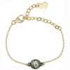 Small Envy Eye - Dainty Gold Rolo Link Chain