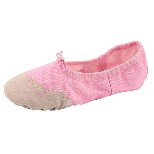 PINK CANVAS BALLET DANCE SHOES Slippers Slippers Beige Nude Dancing Yoga Shoe