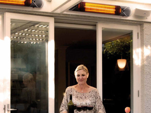 Euroblade Infrared heaters outside.