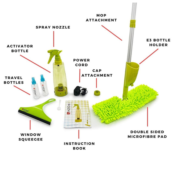 H2O e3™ S-Water Natural Cleaning System + Free e3 Mop