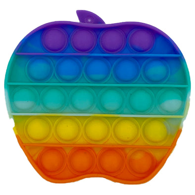 Pop It Fidget Toy - Rainbow Apple