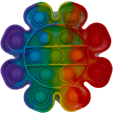 Pop It Fidget Toy - Rainbow Flower