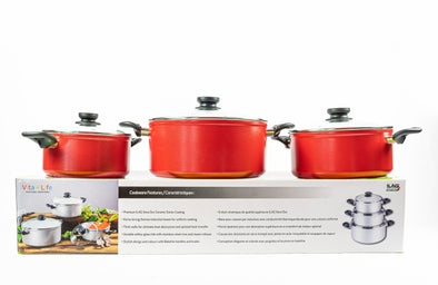 Vita+Life 3 Pot Set With Lids
