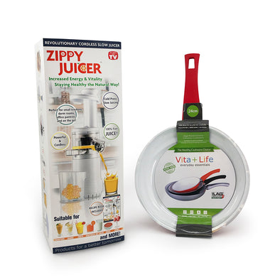 Zippy Juicer + FREE 24cm Vita+Life Ceramic Frying Pan