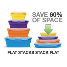 Flat Stacks 4 Piece Set - Round