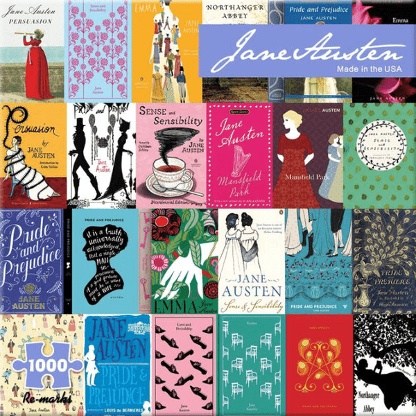 Jane Austen Book Covers Mosaic Embroidery