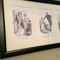 Pride & Prejudice Framed Five Print Set