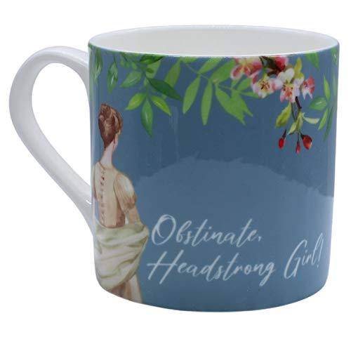 Obstinate, Headstrong Girl! Jane Austen Blue China Mug
