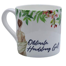 Load image into Gallery viewer, Obstinate, Headstrong Girl! Jane Austen White China Mug
