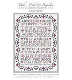 Pride & Prejudice Opening Lines Sampler Cross Stitch Kit -  thejaneaustenshop.co.uk