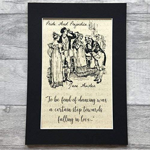 Jane Austen Pride And Prejudice Parchment Print