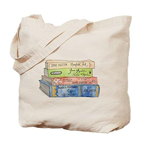 Jane Austen Books Natural Canvas Tote Bag