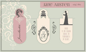Jane Austen Set of 3 Magnetic Bookmarks