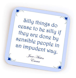 Jane Austen Quote Coasters