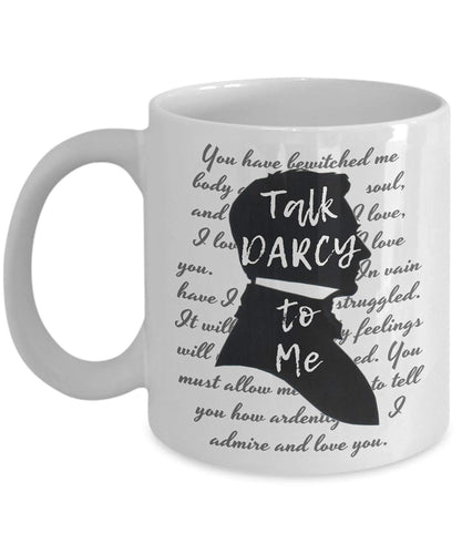 Jane Austen Talk Darcy To Me Mug -  thejaneaustenshop.co.uk