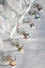 Load image into Gallery viewer, 6 Jane Austen Miniature Book Wine Glass Charms