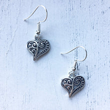 Load image into Gallery viewer, Pride And Prejudice Heart Earrings