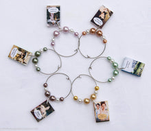 Load image into Gallery viewer, 6 Jane Austen Miniature Book Wine Glass Charms -  thejaneaustenshop.co.uk