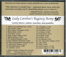Load image into Gallery viewer, Lady Caroline's Regency Romp, Country Dances, Waltzes, Mazurkas and Quadrilles