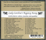 Lady Caroline's Regency Romp, Country Dances, Waltzes, Mazurkas and Quadrilles -  thejaneaustenshop.co.uk