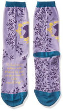 Load image into Gallery viewer, Jane Austin Socks - Lavender