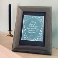 Mr. Darcy's Proposal Framed Print