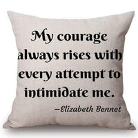 Elizabeth Bennet Quote Cushion