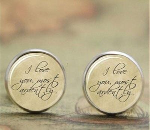 Pride and Prejudice Quote Earrings -  thejaneaustenshop.co.uk