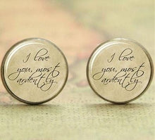 Load image into Gallery viewer, Pride and Prejudice Quote Earrings -  thejaneaustenshop.co.uk