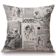 Load image into Gallery viewer, Jane Austen Literary Cushion Cover