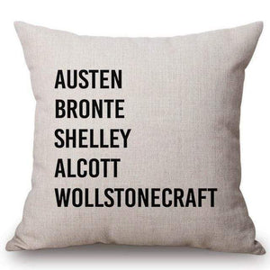 Jane Austen Literary Cushion Cover