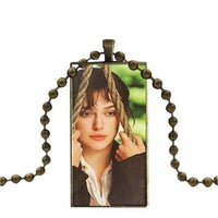 Jane Austen Glass Cabochon Pendant -  thejaneaustenshop.co.uk