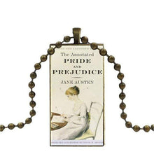 Load image into Gallery viewer, Jane Austen Glass Cabochon Pendant