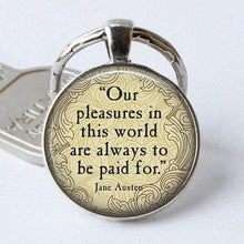 Load image into Gallery viewer, Northanger Abbey Quote Keyring