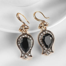 Load image into Gallery viewer, Black Stone Drop Earrings -  thejaneaustenshop.co.uk